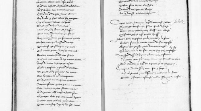 Album de poésies des Villeroy : Manuscrit français 1663 de la BNF
